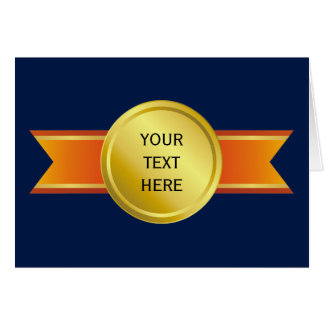 AWARD RIBBON gold III + your backgr. & text Card