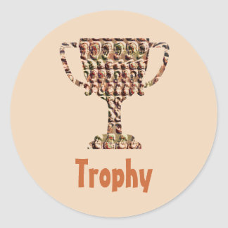 AWARD : Vintage Engraved Gold Classic Round Sticker
