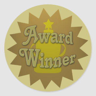 Award Winner Book Promo Classic Round Sticker