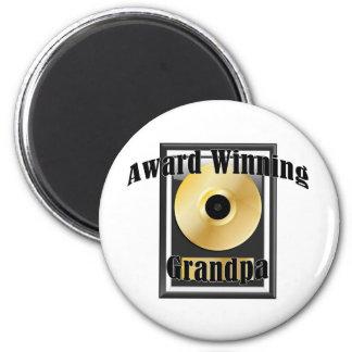 Award winning Grandpa 2 Inch Round Magnet