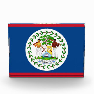 Award with flag of Belize