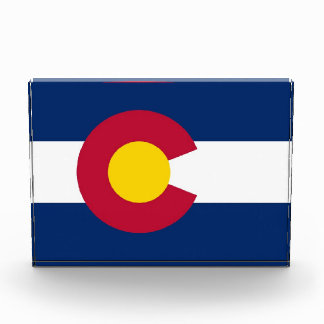 Award with flag of Colorado, U.S.A.