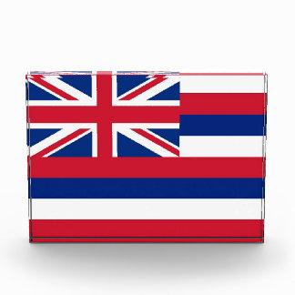 Award with flag of Hawaii, U.S.A.