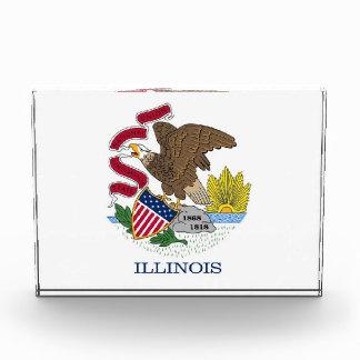 Award with flag of Illinois, U.S.A.