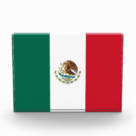 Award with flag of Mexico