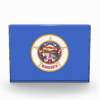 Award with flag of Minnesota, U.S.A.