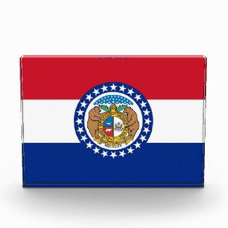 Award with flag of Missouri, U.S.A.
