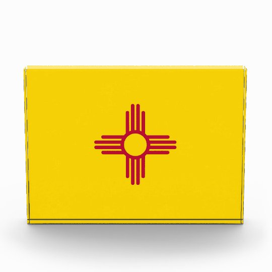 Award with flag of New Mexico, U.S.A.