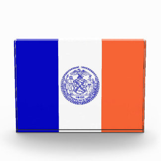 Award with flag of New York, U.S.A.