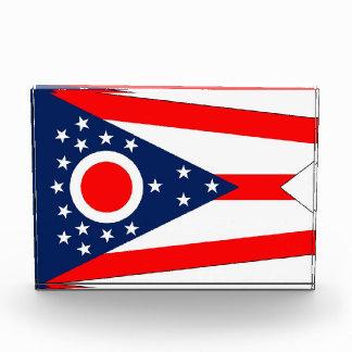 Award with flag of Ohio, U.S.A.