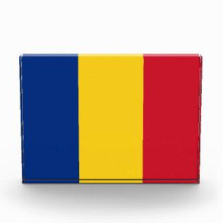 Award with flag of Romania