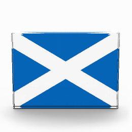 Award with flag of Scotland