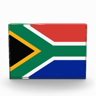 Award with flag of South Africa