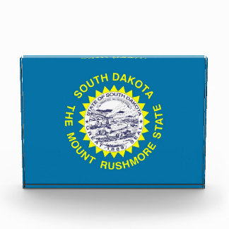 Award with flag of South Dakota, U.S.A.