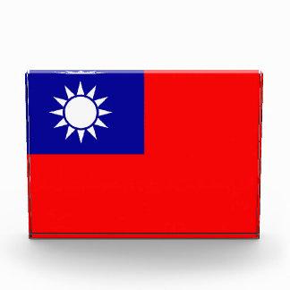 Award with flag of Taiwan