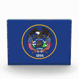 Award with flag of Utah, U.S.A.
