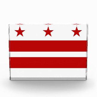 Award with flag of Washington DC, U.S.A.
