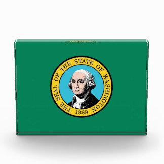 Award with flag of Washington State, U.S.A.