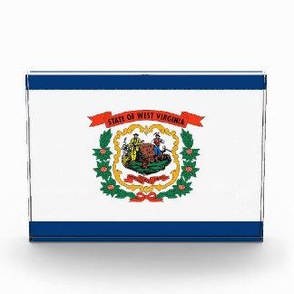 Award with flag of West Virginia, U.S.A.