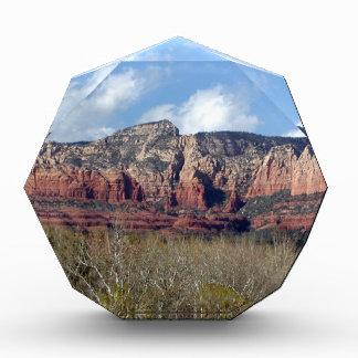 award with photo of Arizona red rocks