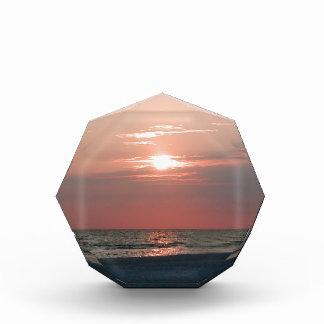 award with photo of beautiful sunset