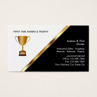 trophy business cards templates zazzle
