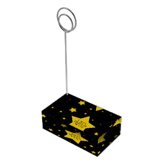 Awards Night Hollywood Black And Gold Stars Place Card Holder