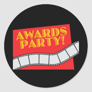 AWARDS PARTY CLASSIC ROUND STICKER
