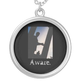 Aware. Round Pendant Necklace