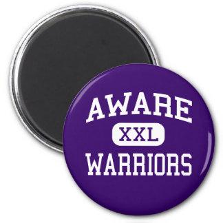 Aware - Warriors - High School - Anadarko Oklahoma 2 Inch Round Magnet