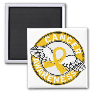 Awareness 14 Childhood Cancer 2 Inch Square Magnet