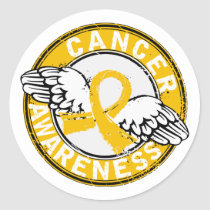 Awareness 14 Childhood Cancer Classic Round Sticker