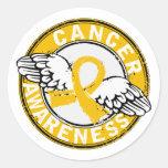 Awareness 14 Childhood Cancer Round Sticker