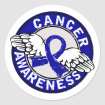 Awareness 14 Colon Cancer Classic Round Sticker