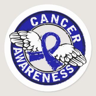 Awareness 14 Colon Cancer Classic Round Sticker