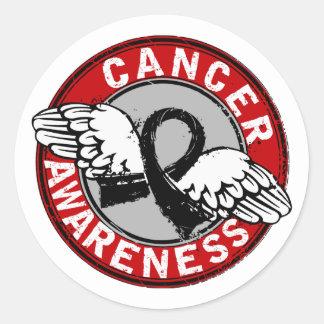 Awareness 14 Melanoma Classic Round Sticker