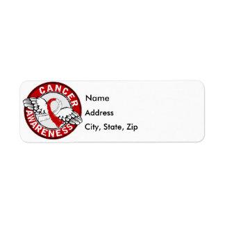 Awareness 14 Oral Cancer Return Address Label