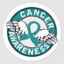 Awareness 14 Ovarian Cancer Classic Round Sticker