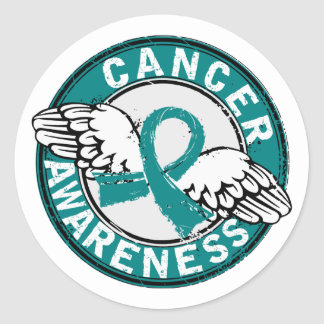 Awareness 14 Ovarian Cancer Classic Round Sticker