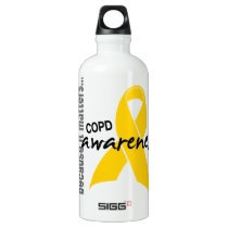 Awareness 1 COPD Aluminum Water Bottle