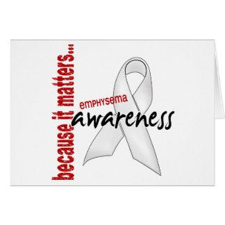 Awareness 1 Emphysema Greeting Cards