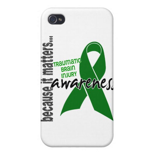 Awareness 1 Traumatic Brain Injury TBI iPhone 4/4S Covers