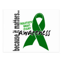 Awareness 1 Traumatic Brain Injury TBI Postcard
