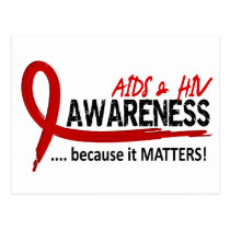 Awareness 2 AIDS Postcard