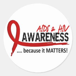 Awareness 2 AIDS Round Stickers