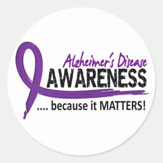 Awareness 2 Alzheimer's Disease Classic Round Sticker