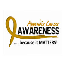 Awareness 2 Appendix Cancer Postcard