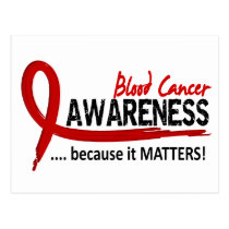 Awareness 2 Blood Cancer Postcard