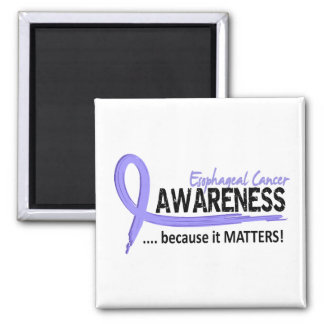 Awareness 2 Esophageal Cancer 2 Inch Square Magnet