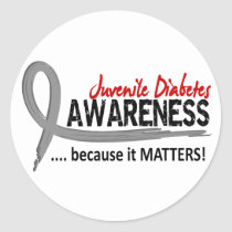 Awareness 2 Juvenile Diabetes Classic Round Sticker